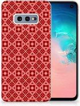 Samsung Galaxy S10e Uniek TPU Hoesje Batik Red
