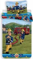 Brandweerman Sam Action - Dekbedovertrek - Eenpersoons - 140 x 200 cm - Multi