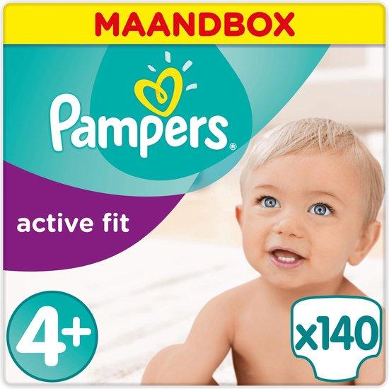 Pampers Active Fit Luiers - Maat 4+ - 140 Stuks