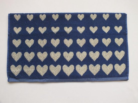 Bunzlau Castle Keukendoek Hearts Royal Blue