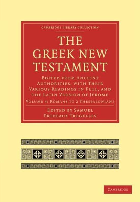 Boek cover The Greek New Testament van Tregelles, Samuel Prideaux (Paperback)