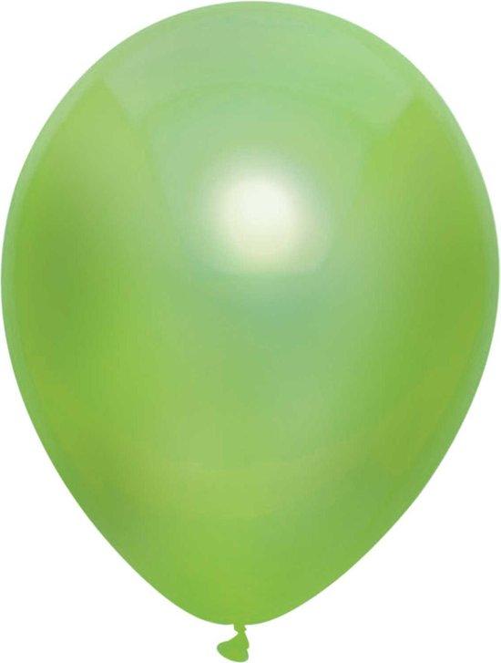 Haza Original Ballonnen Metallic Lichtgroen 10 Stuks