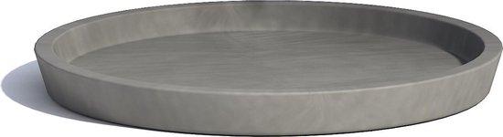 ECOPOTS onderschotel Amsterdam 40 cm grijs