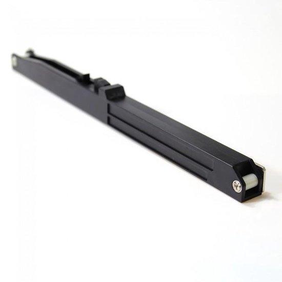 Schuifdeursysteem Mat zwart inclusief softclose sluitvertrager, Smeedijzereffect met hangrollen - 200 cm schuifdeur systeem - XAPTOVi