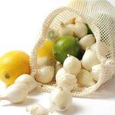 Bo Weevil 2 stuks Herbruikbare Groentezak/ Fruitzak - Maat S - Biologisch katoen