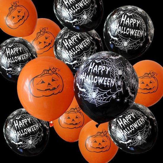 20 Stuks Leuke Halloween Ballonnen - Pompoen + Spin - Feestdag
