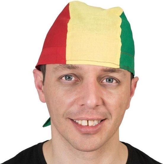 Bandana zakdoek in rood, geel en groen