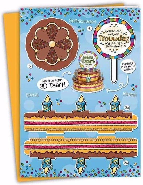 Betere bol.com | XXL 3D taart kaart Trouwdag FY-61
