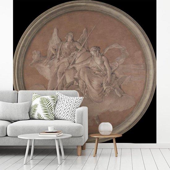 Fotobehang vinyl - Deugd en overvloed - Schilderij van Giovanni Battista Tiepolo breedte 220 cm x hoogte 220 cm - Foto print op behang (in 7 formaten beschikbaar)