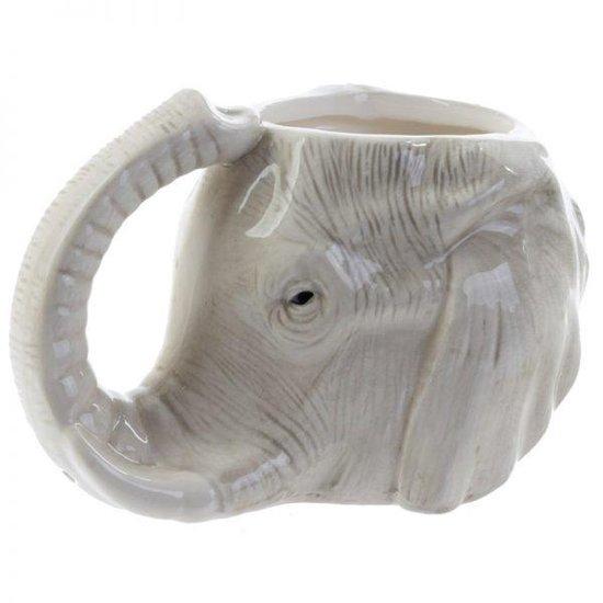 Mok olifant kop met lange slurf