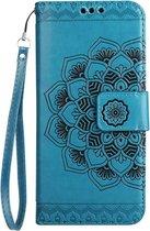Shop4 - Samsung Galaxy A5 (2017) Hoesje - Wallet Case Vintage Mandala Blauw