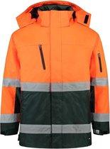 Tricorp Parka EN471 bi-color - Workwear - 403004 - fluor oranje / groen - Maat M