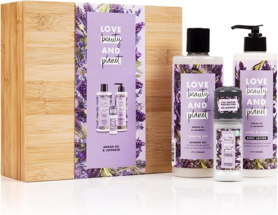 Love Beauty And Planet Purple BambooBox Argan Oil & Lavendel - Geschenkset