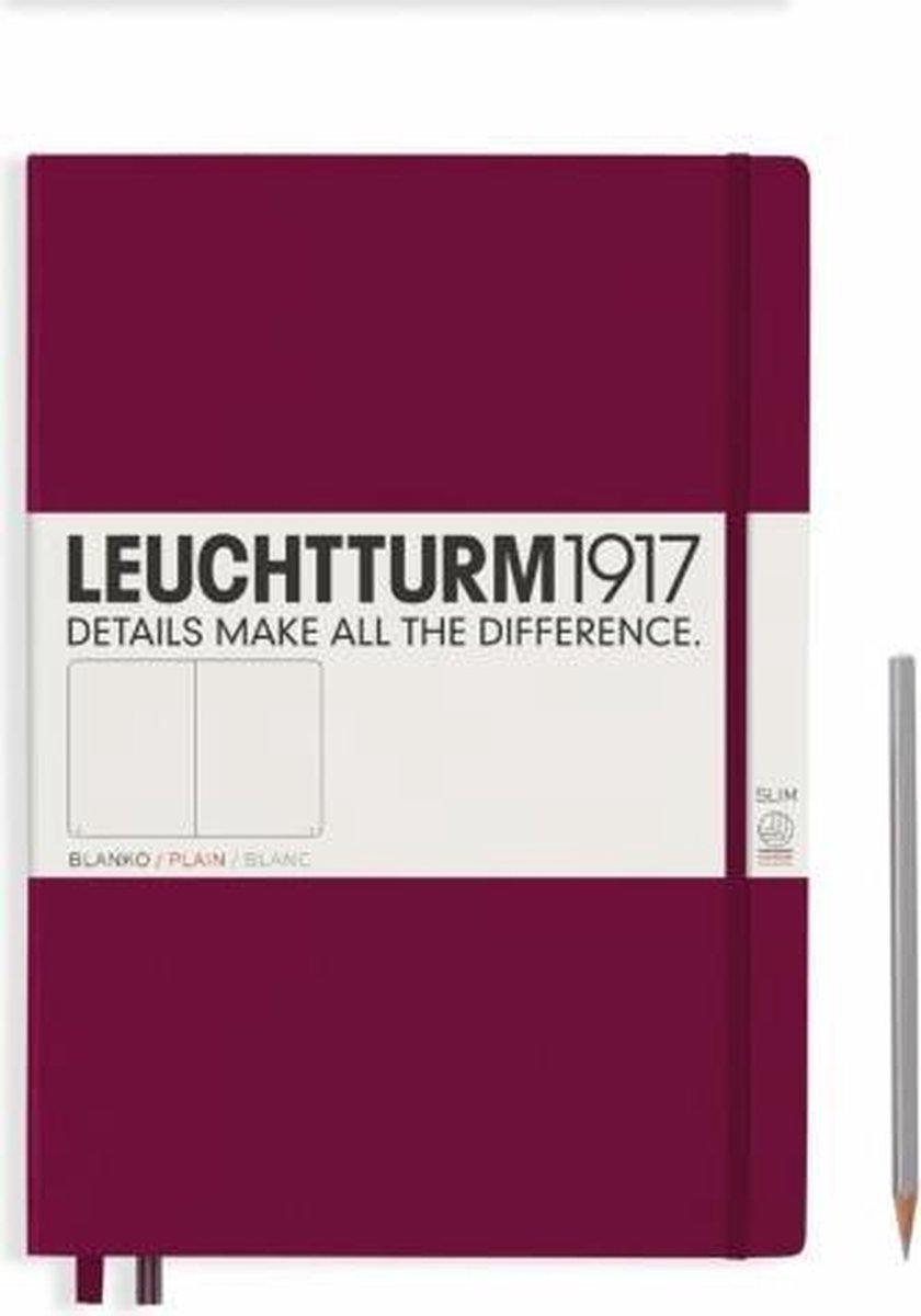 Leuchtturm1917 Notitieboek Master Slim A4 Blanco Port Rood