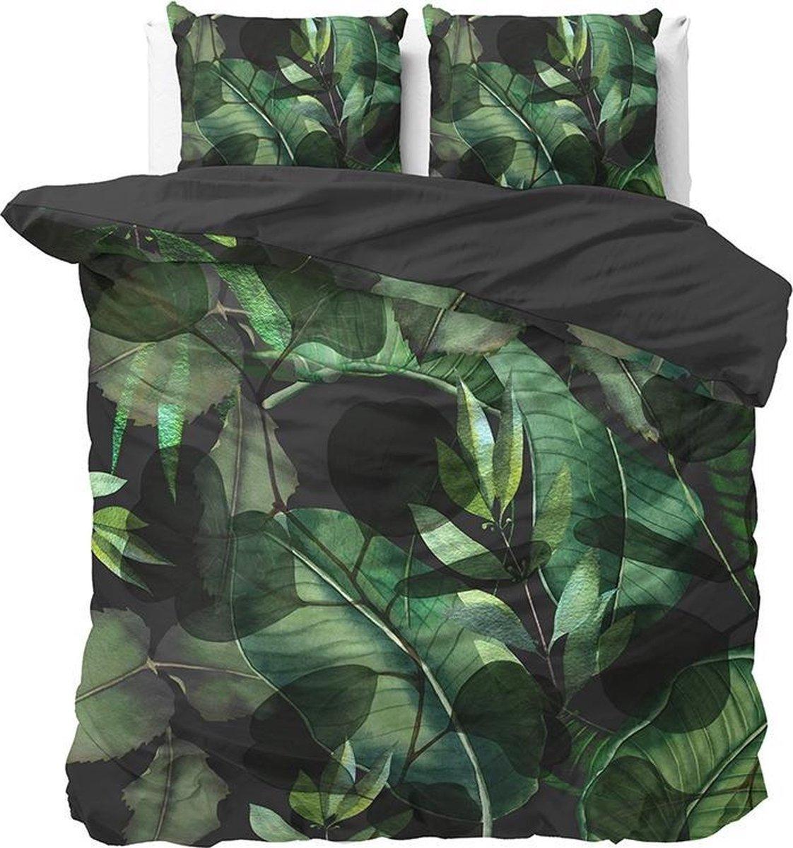 Sleeptime Wild Plants - Dekbedovertrekset - Tweepersoons - 200x200/220 + 2 kussenslopen 60x70 - Groe