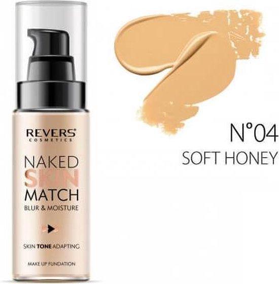 REVERS® Make Up Foundation Naked Skin Match #04 Soft Honey 30ml.