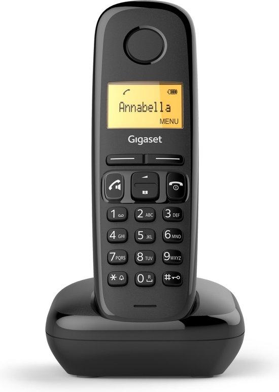 Gigaset AS190 - Single DECT telefoon - Zwart