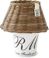 Rivièra Maison Rustic Rattan Maison Fondée en 1948 Candle Holder - Kandelaar - 22 cm