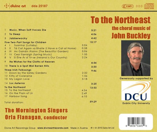 To the Northeast: The Choral Music of John Buckley