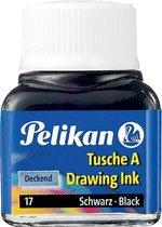 13x Pelikan Oost-Indische inkt zwart, flesje van 10 ml