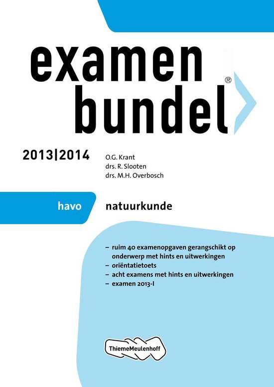 Examenbundel - 2013/2014 HAVO Natuurkunde - none  