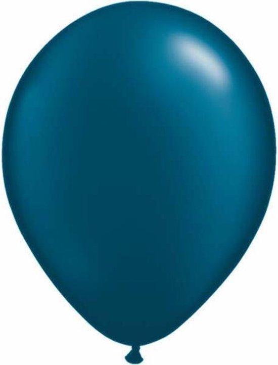 Qualatex ballonnen 100 stuks Pearl Midnight Blue