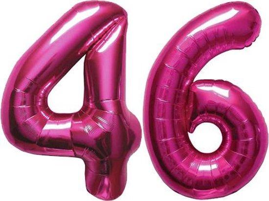 Cijfer 46 Magenta Helium 86 cm Excl. helium