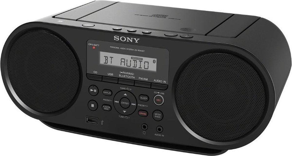 Sony ZS-RS60BT - Radio/cd speler met Bluetooth - Zwart