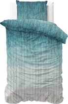Sleeptime Wood Fresh 2 - Dekbedovertrek - Eenpersoons - 140x200/220 + 1 kussensloop 60x70 - Turquoise