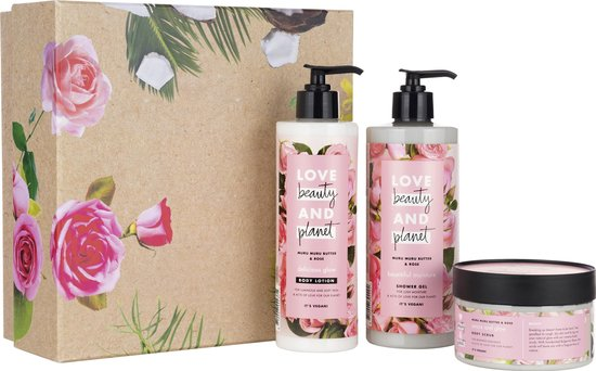 Love Beauty and Planet Muru Muru Butter & Rose - Luxe Geschenkset