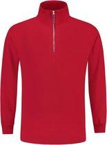 Tricorp Sweater ritskraag - Casual - 301010 - Rood - maat XL