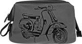 Italian Vespa Scooter - Toilettas - Grijs/Zwart