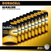 Duracell Knoopcel Alkaline - LR44 AG13 knoopcel batterijen - 105 mAh - voordeelverpakking - 20 stuks