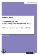 Neuvermessung von Head-Related-Transfer-Functions (HRTF)