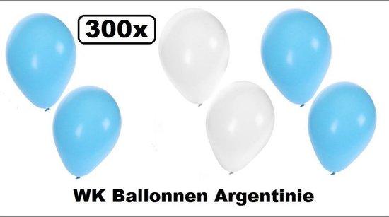 300x Ballonnen Argentinie - ballon landen oktoberfest apres ski blauw wit helium festival