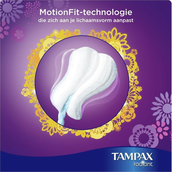 TAMPAX RADIANT SUPER 16CT - Tampax