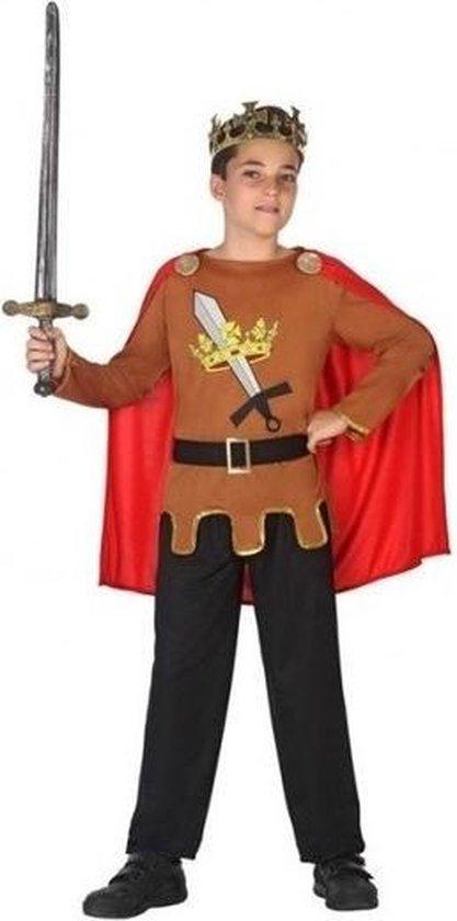 Middeleeuwse ridderkoning kostuum jongens carnavalskleding voordelig geprijsd 140 (10 12 jaar)