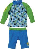 UV-shirt + zwemshort Sealife Blauw| 80-86