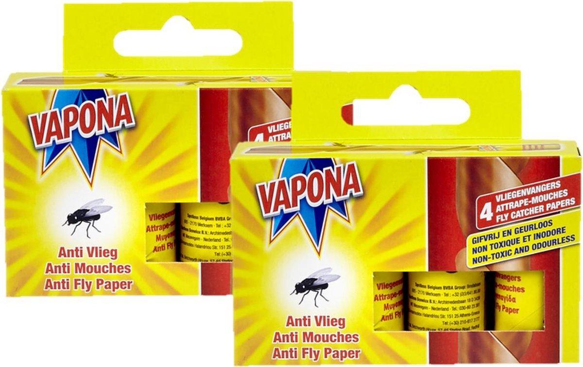 Vapona Vliegenvanger 4 per pak - 2 pakken