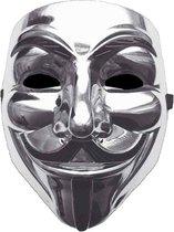 Zilver V for Vendetta Masker / Zilver Anonymous Masker / Zilver Guy Fawkes Masker