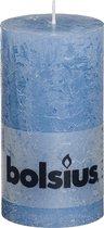 Bolsius Rustiek Stompkaars 130/68 Blauw