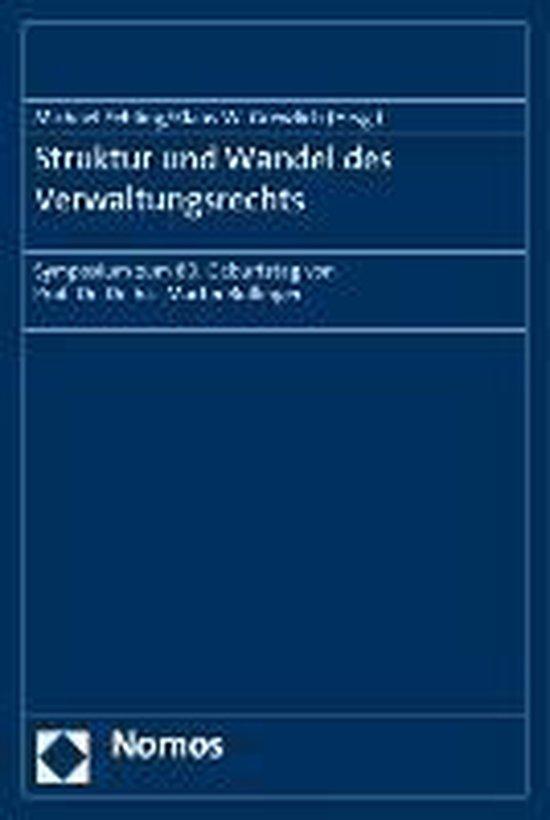 Boek cover Struktur und Wandel des Verwaltungsrechts van  (Paperback)