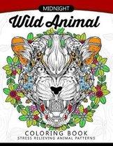 Midnight Wild Animal Coloring Book