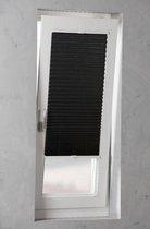 Pliss? met zijgeleiding Crushed Raven Grey - 90x130 cm