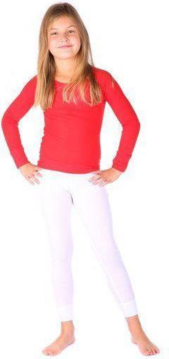 Thermo4sports - thermokleding - thermoset rood - wit maat 128
