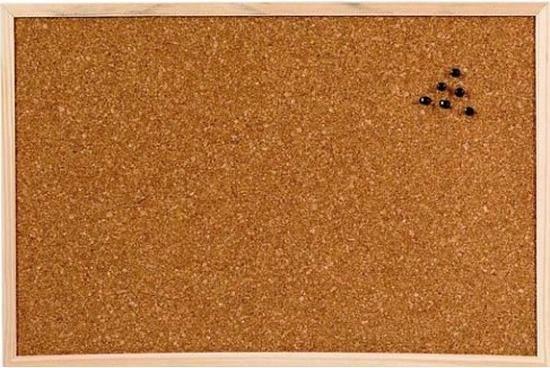 Afbeelding van Prikbord van kurk 45 x 30 cm
