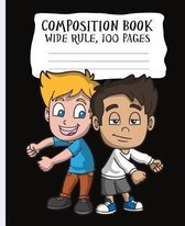 Composition Book, Wide Rule, 100 Pages
