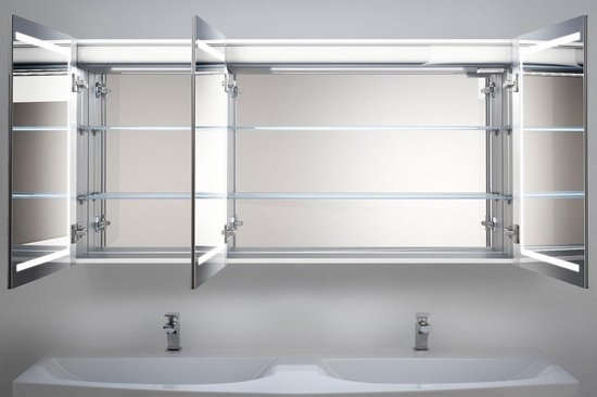 Bol Com Design Spiegelkast Met Muziek Systeem En Goede Verlichting Inclusief Spiegelverwarming