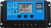 20A Solar laadregelaar met LCD DC 12V - 24V PWM en 5V USB - Levay ®