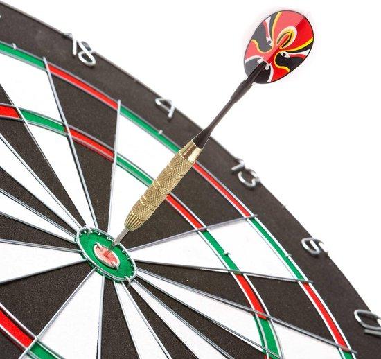 Thumbnail van een extra afbeelding van het spel #DoYourDart - 12x steeltip dartpijlen incl. case voor opslag - »Hard-Strike« - Barrels van ijzer en veel grip, plastic Shafts | 4x Motto Dart-Flights (PET) incl. 30x extra flights - de darts: 18g - goudkleurig